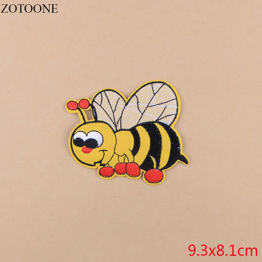 ZOTOONE 1Pcs Cartoon Fox Elephant Patches Sequin Butterfly Patches For Clothing Iron Cheap Embroidery Patches For Kids Clothes in Patches from Home Garden