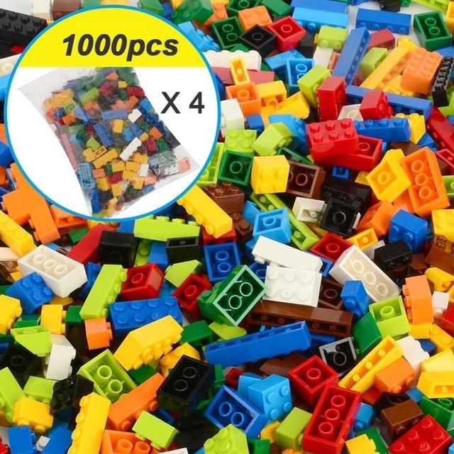 250-1000 Pieces Legoes Building Blocks City DIY Creative Bricks Educational Toys 4
