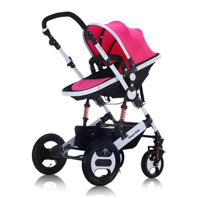 DRAGÃO de Embarque DO BEBÊ de Quatro Rodas Dobrável Carrinho de Bebê