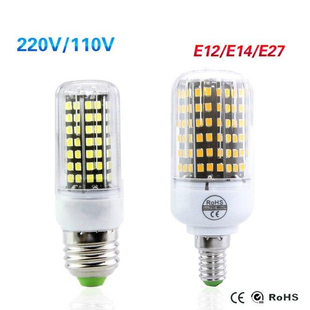 E27 E14 E12 Led Bulb High Luminous 220v 15w 12w 10w 9w 7w 5w Corn