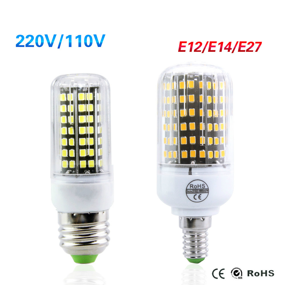 e27 e14 e12 led bulb high luminous 220v 15w 12w 10w 9w 7w 5w led corn - E12 Led Bulb