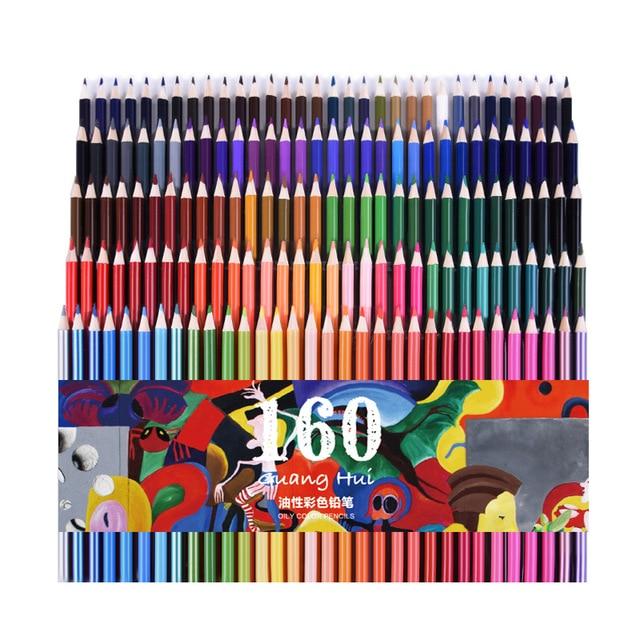 Juego De lápices De Color De madera De 72/120/160 colores, pintura De artista, lápiz De Color aceite, dibujo escolar sketch arte suministros
