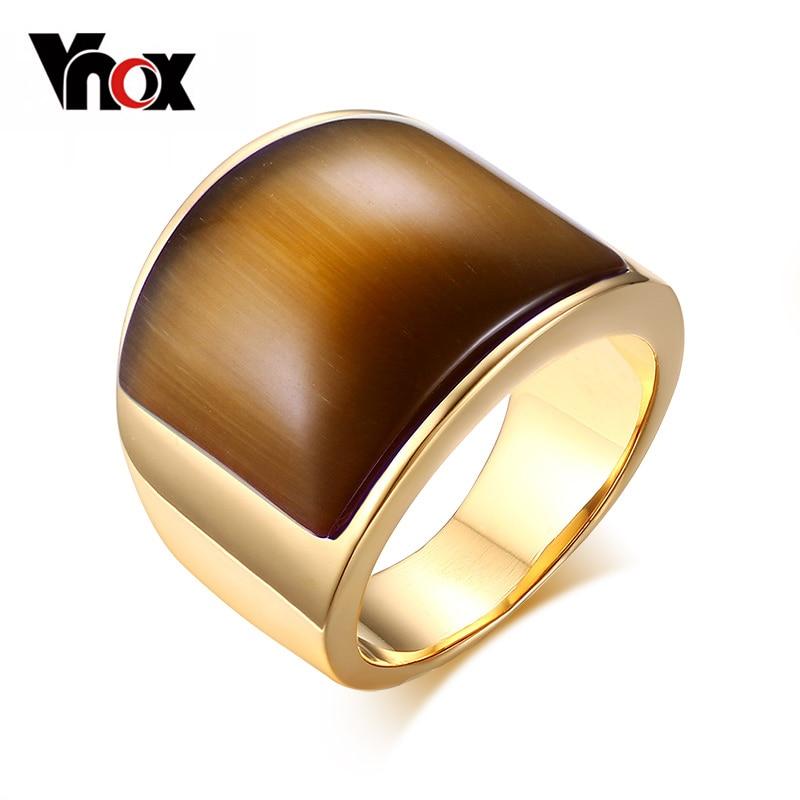 Prix pour Vnox mode en acier inoxydable anneaux pour les femmes parti bijoux grosse pierre de mariage cadeau