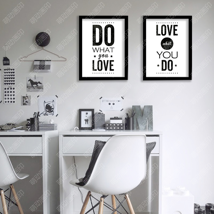 Wall Colour Inspiration: P33 DO WHAT YOU LOVE English Quotes Canvas Poster Home