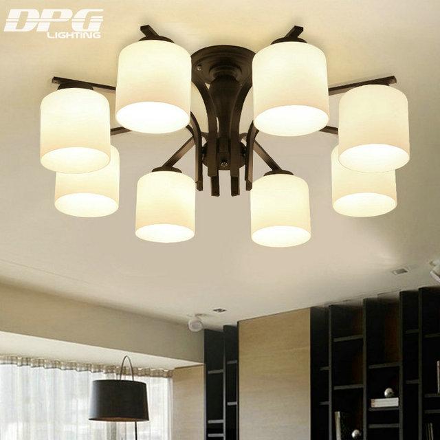 Moderne led weißem milchglas decke leuchten lampe für ...