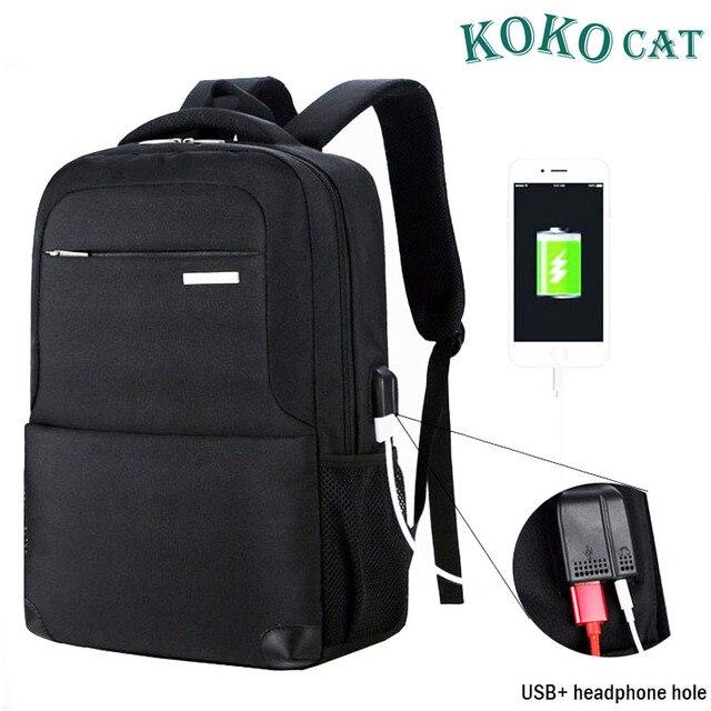 65e470c7b5 USB Charging Laptop Backpack 15.6 inch Laptop Notebook Women Men Waterproof  School Bag For Teenage College Travel Backpack Nylon