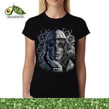 Mystery Woman MEN Death Skull Women T-shirt S-3XL T Shirts Funny Tops Tee New Unisex  High Quality Casual Printing 100% Cotton