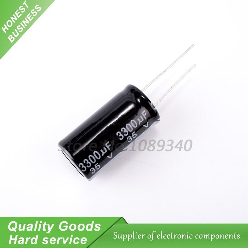 5PCS 35V3300UF 16*30mm 3300UF 35V 16*30 Aluminum Electrolytic Capacitor