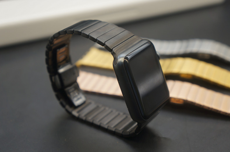 Prix pour Haute qualité lien bracelet pour apple watch band 316L bracelet en acier inoxydable pour iwatch 42mm