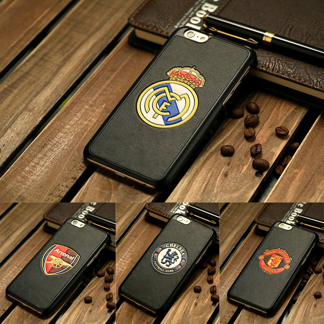 New Fashion Football team case with 3D leather cover for iphone