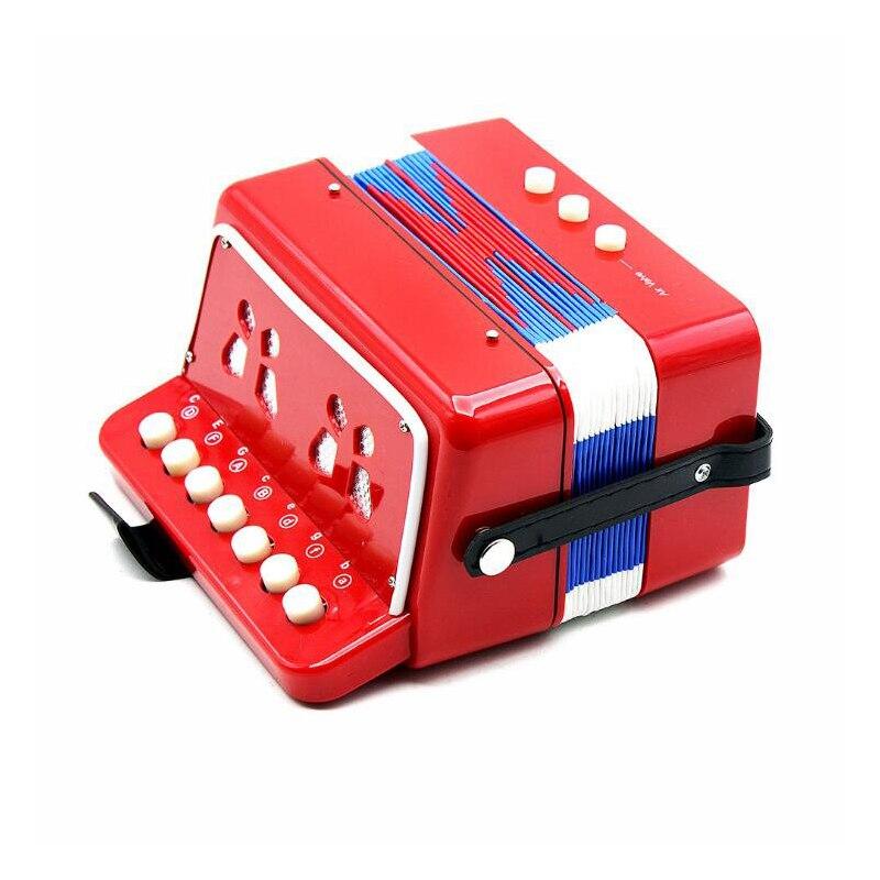 Enfants en bois accordéon Instrument de musique jouets musicaux Oyuncak fille 7 touches bouton Brinquedo Menina Juguetes Oyuncaklar