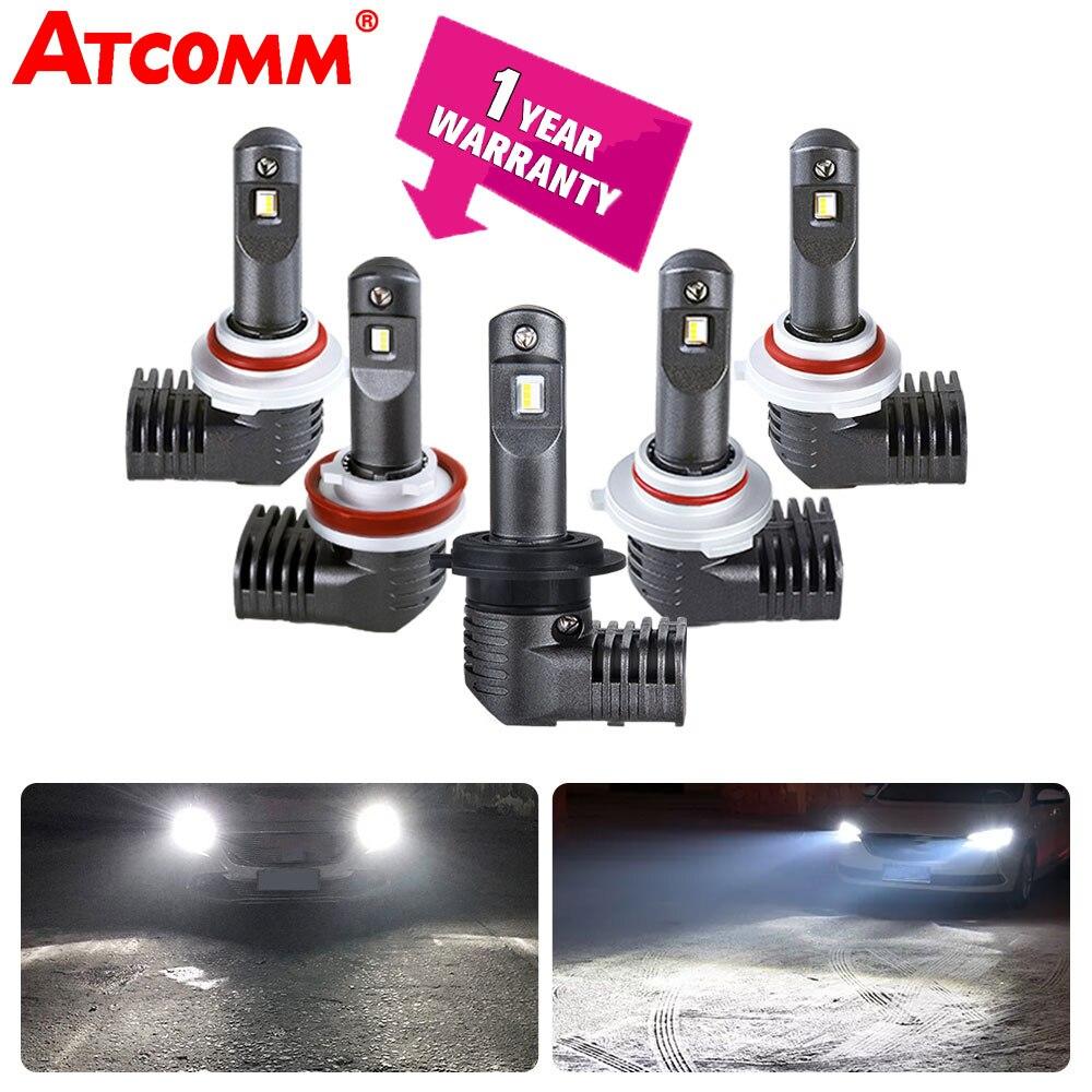ATcomm LED H11 H8 H9 Brouillard Lampes Pour Voiture 12 v 6000 k 10000Lm 24 v 9005/HB3 9006 /HB4 9012/Hir2 Automobiles Brouillard Lumières Super Blanc