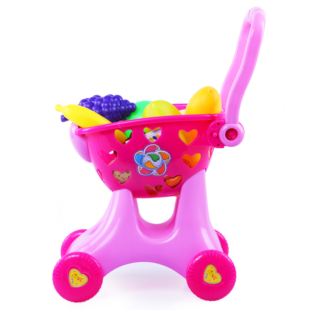 ФОТО 2017 Limited Simulation Shopping Cart House Toy Supermarket Toys Sets Children Gift Learning Walk Sports Pretend Play Furniture