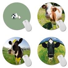 Корова Печати Круглый Rubbergaming Коврик Для Мыши 20 см * 20 см