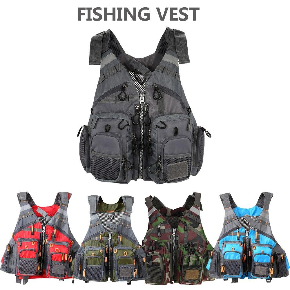Chaleco deportivo para pesca al aire libre, chaleco respiratorio de utilidad para hombres, chaleco de pesca sin espuma