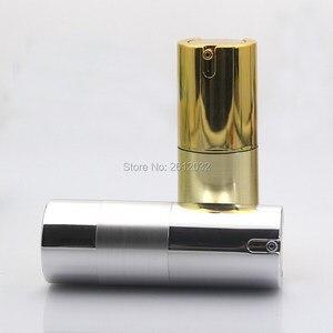 Image 3 - 500 pcs Luxo Ouro Prata Vazio Sem Ar garrafas de Bomba Mini Portátil Vacuum Tratamento Loção Cosmética garrafa Viagem F20171524