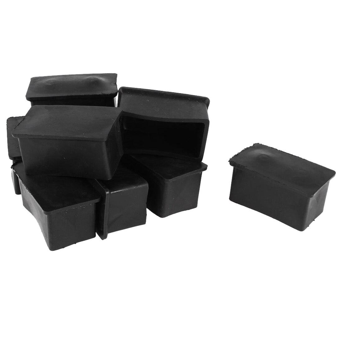 NHBR Rubber Chair Table Foot Cover Furniture Leg Protectors 25x50mm 10 Pcs 2 sets lot furniture square shape foot skid glide slide pad nail protectors 50pcs