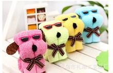 30pcs/lot! Creative and Lovely Dog Shape Cake Towel Personality Wedding Persent Birthday Gifts 20*20cm
