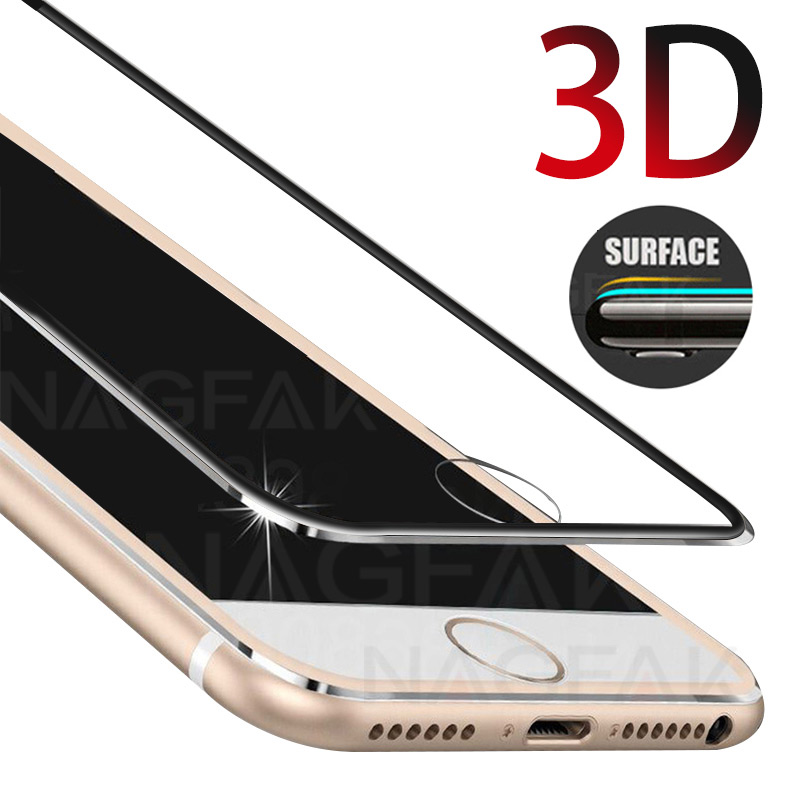 For iphone 6 6s Plus x glass 3D full Cover Tempered Glass on iphone 7 8 Plus 5 5s se Screen Protector Protective glass film