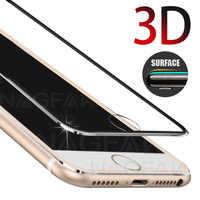 Para iphone 6 6s Plus x vidrio 3D cubierta completa vidrio templado en iphone 7 8 Plus 5 5S se Protector de pantalla película de vidrio Protector