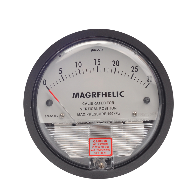 0-30PA  Micro Differential Pressure Gauge High Precision Round Type Pointer Instrument Micromanometer TE2000 r134a single refrigeration pressure gauge code 1503 including high and low