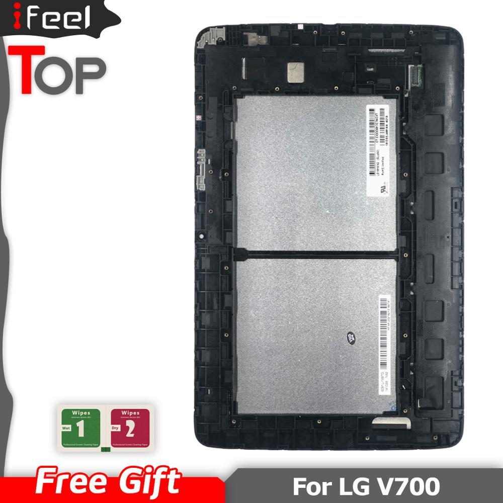 Nouveau écran LCD + numériseur d'écran tactile avec assemblage de cadre pour LG G Pad 10.1 V700 VK700 10.1 pouces noir