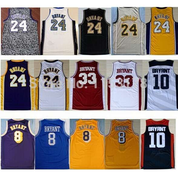 1a76cd2c4 The Free shipping 8 Kobe 24 Kobe Bryant Jersey throwback 33 Bryant High  School USA 2012 dream ...