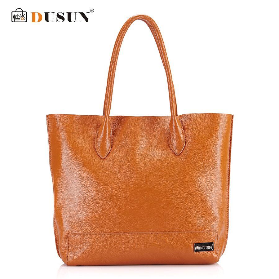 DUSUN Genuine Leather Handbags Large capacity Women Bag Shoulder Bag Luxury Handbags Famous Brands Designer Casual Women Bags sgarr soft leather handbags women famous brands luxury bag designer quality casual lady messenger bag female large shoulder bags