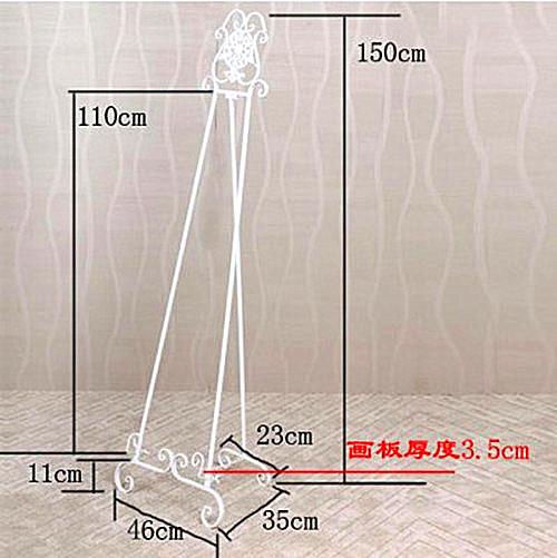 New wrought iron floor easel painting frame photo display door advertising shelf bracket bracket wedding photos  sc 1 st  AliExpress.com & New wrought iron floor easel painting frame photo display door ...