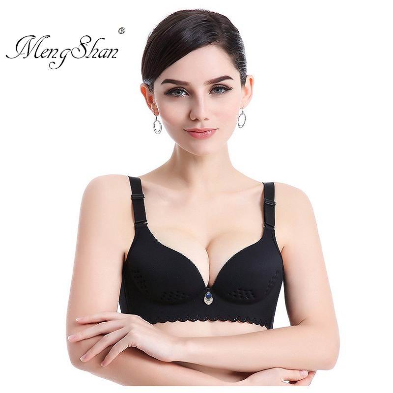 MengShan Summer thin breathable Healthy and comfortable font b underwear b font Gather small breasts and