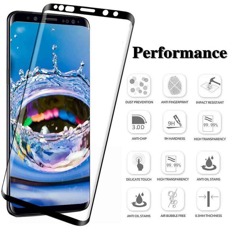 11D Cheio Curvo Vidro Temperado película Para Samsung Galaxy S8 S9 Plus S10 lite Nota 8 9 Protetor de Tela Para samsung A8 A6 2018 S7