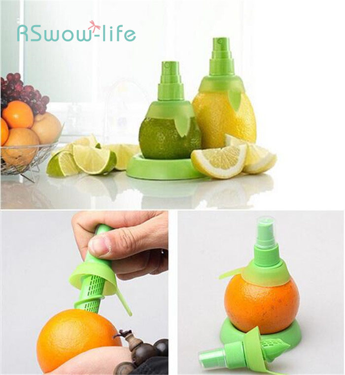 Manual Fruit Juice Sprayer Creative Lemon Juicer Fruit and Vegetable Tools Home Kitchen Tools in Squeezers Reamers from Home Garden