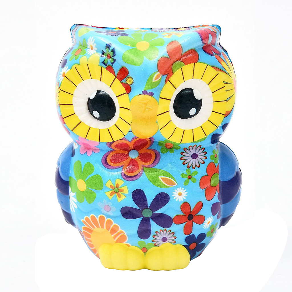 Cute Owl Squishy 2019 Slow Rising Cartoon Doll Squish For Stress Relief Wholsale Kids Toys