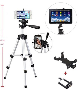 POP Phone Holder with  Retractable Camera Tripod Stand Mount Universal For pad tablet PC ios andriod