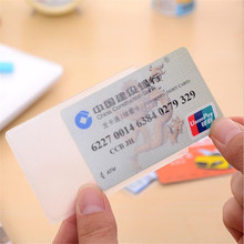 Case Protector Card-Holder Credit-Cards-Card Plastic-Card Transparent Waterproof 10pcs