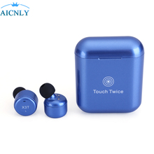 ФОТО 2018 new blutooth earphones wireless bluetooth mini headsets with microphone in ear for sport charging box for andriod airpod