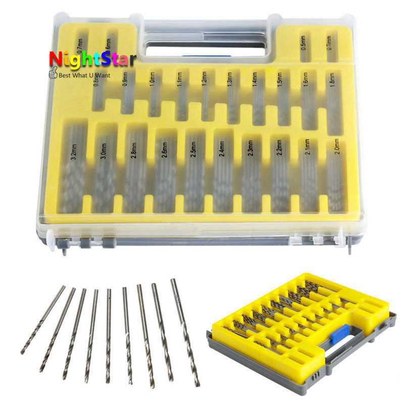50X HSS Metric Twist Drill Bit Set Titanium Nitride Coated Metal Drill Tools XS