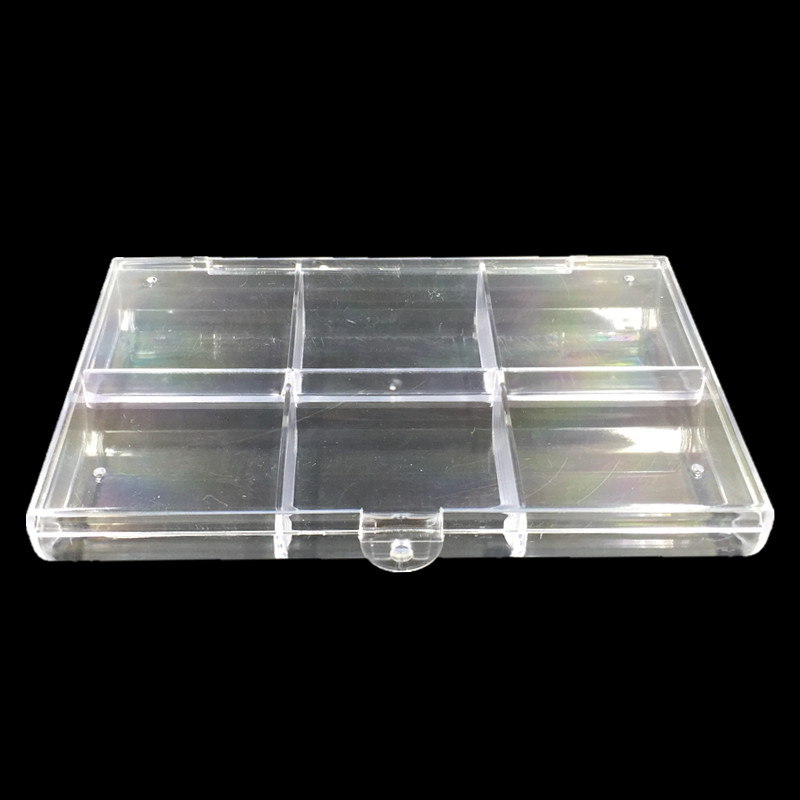 Clear Acrylic Rectangle Storage Box Container Jewelry Beads Powder
