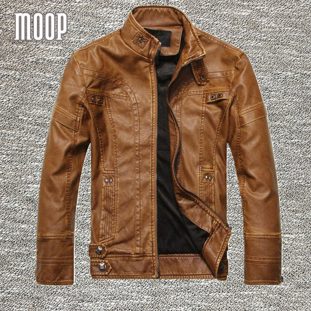 Black/Brown retro PU leather jacket men autumn fleece lining motorcycle jacket coat chaqueta moto hombre veste cuir homme LT083