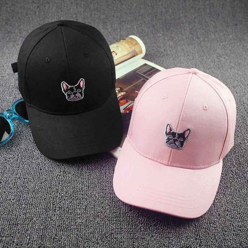 Unisex Cool Hip Hop Baseball Cap for Women Birthday French Bulldog Snapback Adjustable Baseball Cap 2018 Spring Summer