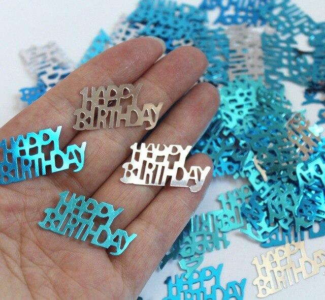 Boy Kids Children Male Happy Birthday Party Table Decorations Confetti Foil Sprinkles BLUE GLITZ