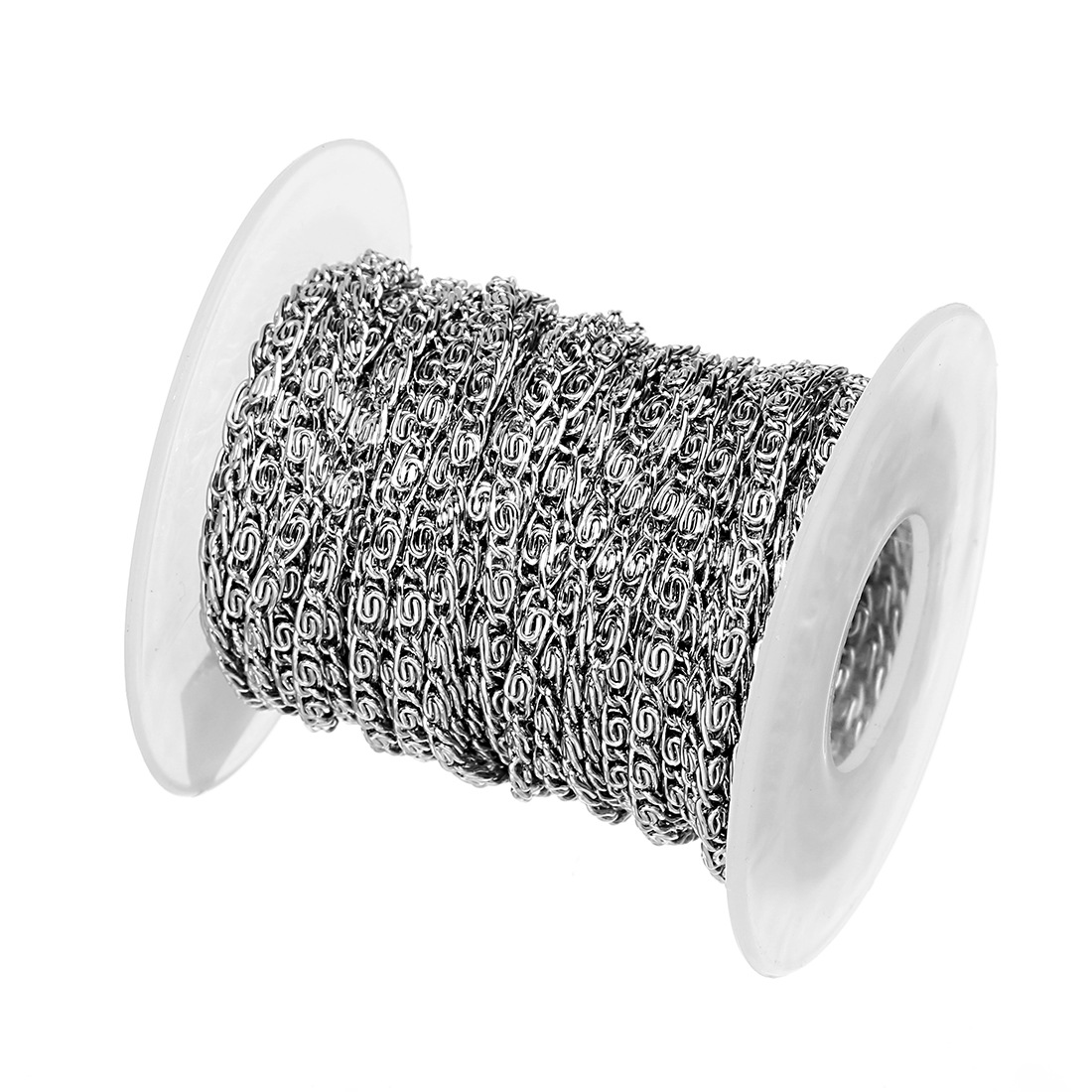 10 Yards/Roll 2mm 3mm Width Silver Tone Stainless Steel Singapore Twisted Chain Jewelry Bulk Chains For Necklaces Jewelry Making