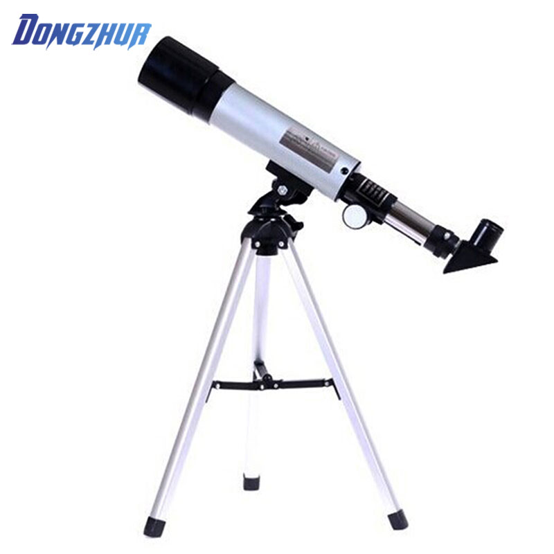 Dongzhur 2018 Hot F50360M Astronomical Telescope with Tripod Adjustable Lever Finderscope Monocular Telescope for Beginner 30 x 52 muti caoted monocular telescope