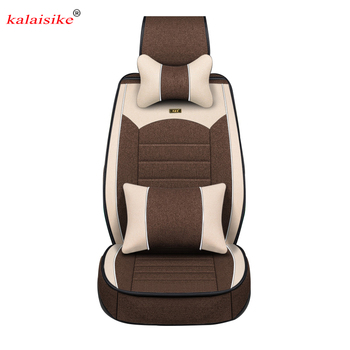 Kalaisike Flax Universal Car Seat covers for BYD all models FO F3 SURUI SIRUI F6 G3 M6 L3 G5 G6 S6 S7 E6 E5 car styling