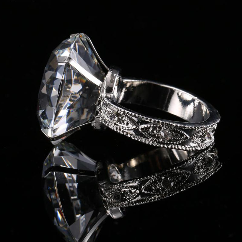 40mm Crystal Glass Diamond Napkin Rings Romantic Table Decoration Wedding Banquet Dinner Party Home Ornaments Gifts ...