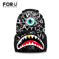 FORUDESIGNS Fashion Boys Children School Bag Letters Monster Printing Student Kids Schoolbag Casual Men Bookbag Mochila Kids
