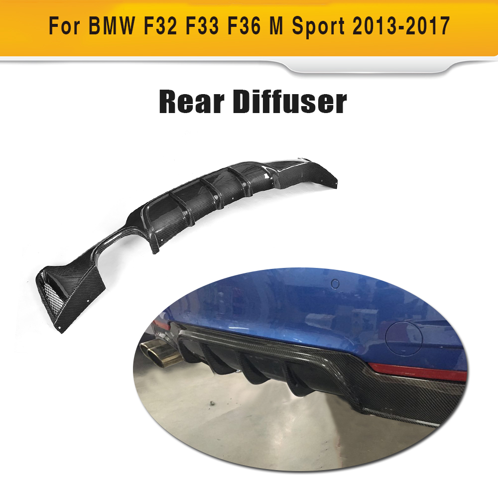 Carbon Fiber Car Rear Bumper Lip Spoiler Diffuser for BMW 4 Series F32 F33 F36 M Sport Coupe Convertible Hatchback 14-17 P Style