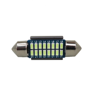 WLJH 2x Canbus Led Girlande 31mm 36mm 39mm 42mm SV8,5 C10W C5W Led 3014 SMD 12V Lampe Beleuchtung Auto Dome Birne Lizenz Platte Lichter