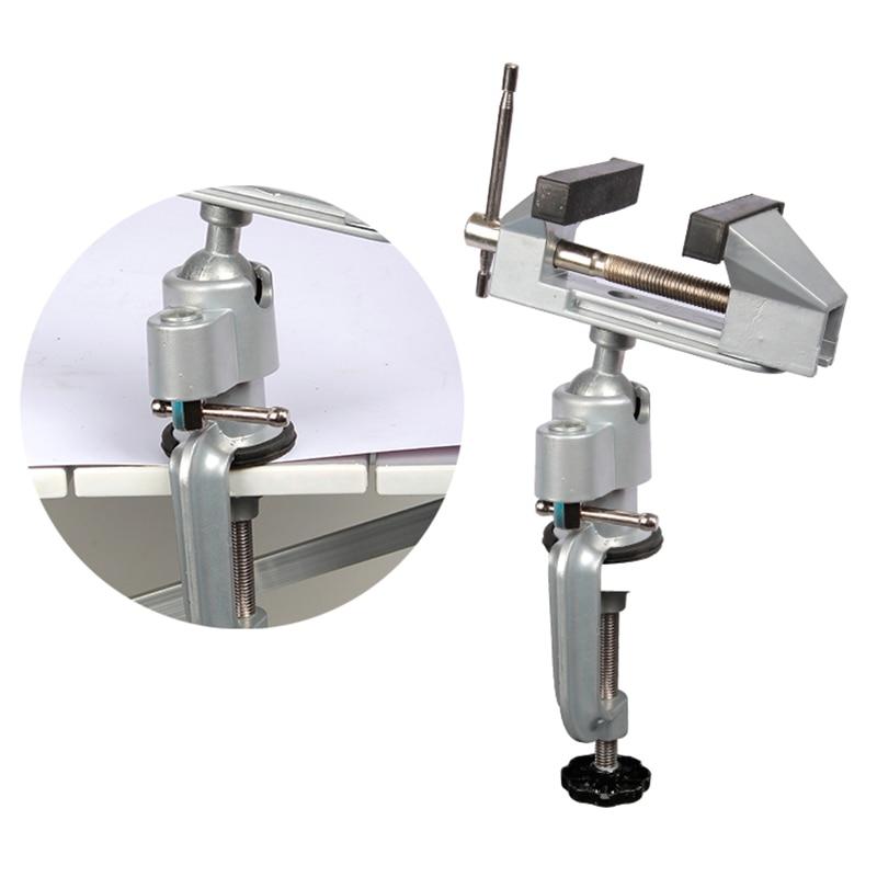 Купить с кэшбэком mini table torno vise Universal Aluminum Alloy 360 degree rotating cnc milling machine bench vise clamp carving woodwoking tool