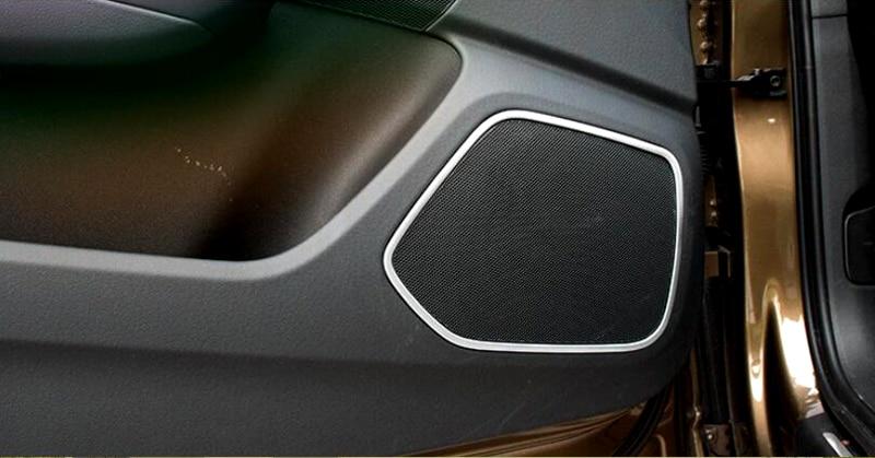 4pcs Auto Door Speaker Audio Ring Cover Trim For Audi Q3 2012-2015